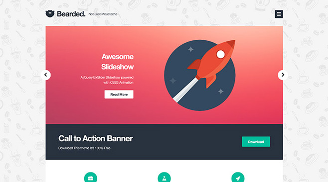 Bearded — бесплатная WordPress тема с поддержкой Woocommerce