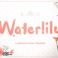 Свободный шрифт Waterlily