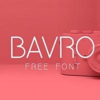 Шрифт Bavro